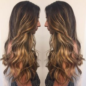 dark balayage color santa barbara