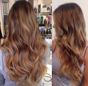 subtle balayage color santa barbara california